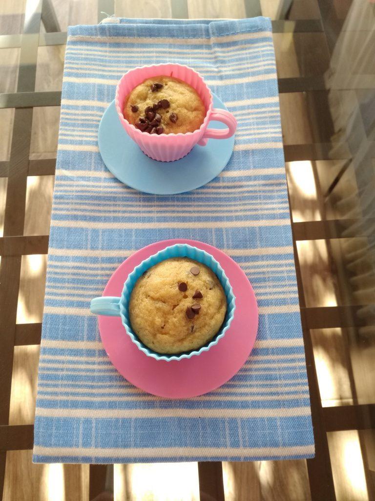 Muffin-banana-e- cioccolato-senza-burro